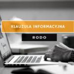 Klauzula informacyjna RODO